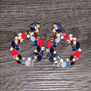 J.Crew Factory Rainbow Wreath Earrings
